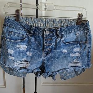 Rewash denim short shorts